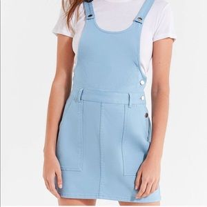 UO Light Blue Overall Dress